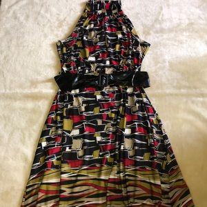 Ashley Stewart Mock Neck Printed Dress.